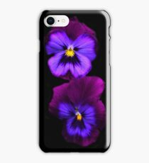 Purple Pansies  iPhone Case/Skin