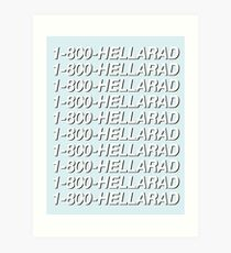 1-800-HELLARAD Art Print