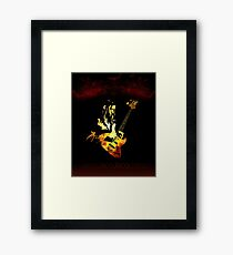 Jaco Pastorius Flame Framed Print