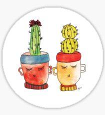 Cacti Couplet   Emma  Sticker