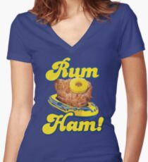 Rum Ham! (ALWAYS SUNNY) Women's Fitted V-Neck T-Shirt