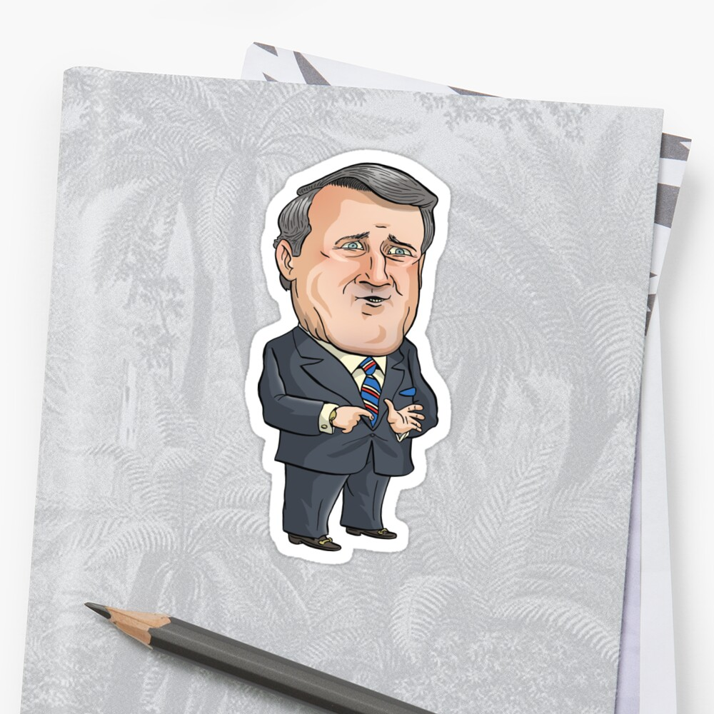 Brian Mulroney by MacKaycartoons