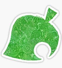 Animal Crossing New Leaf Zentangle Sticker