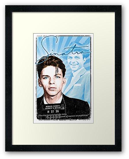 Frank Sinatra Quote Mugshot Art Rat Pack Framed Prints By