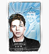 Frank Sinatra Quote. Mugshot. Art. Rat Pack.  Poster