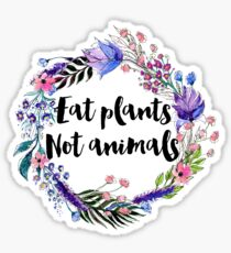 Eat Plants Not Animals  Sticker