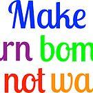 Make yarn bombs, not war by ginamitch