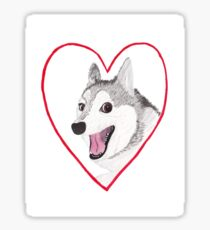 Love Dog Sticker
