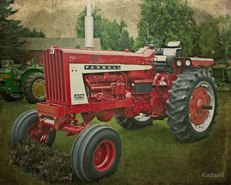 Farmall Wall Decals : Quot farmall tractor stickers by kadwell redbubble