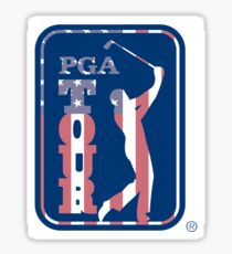 American Flag PGA Tour Sticker