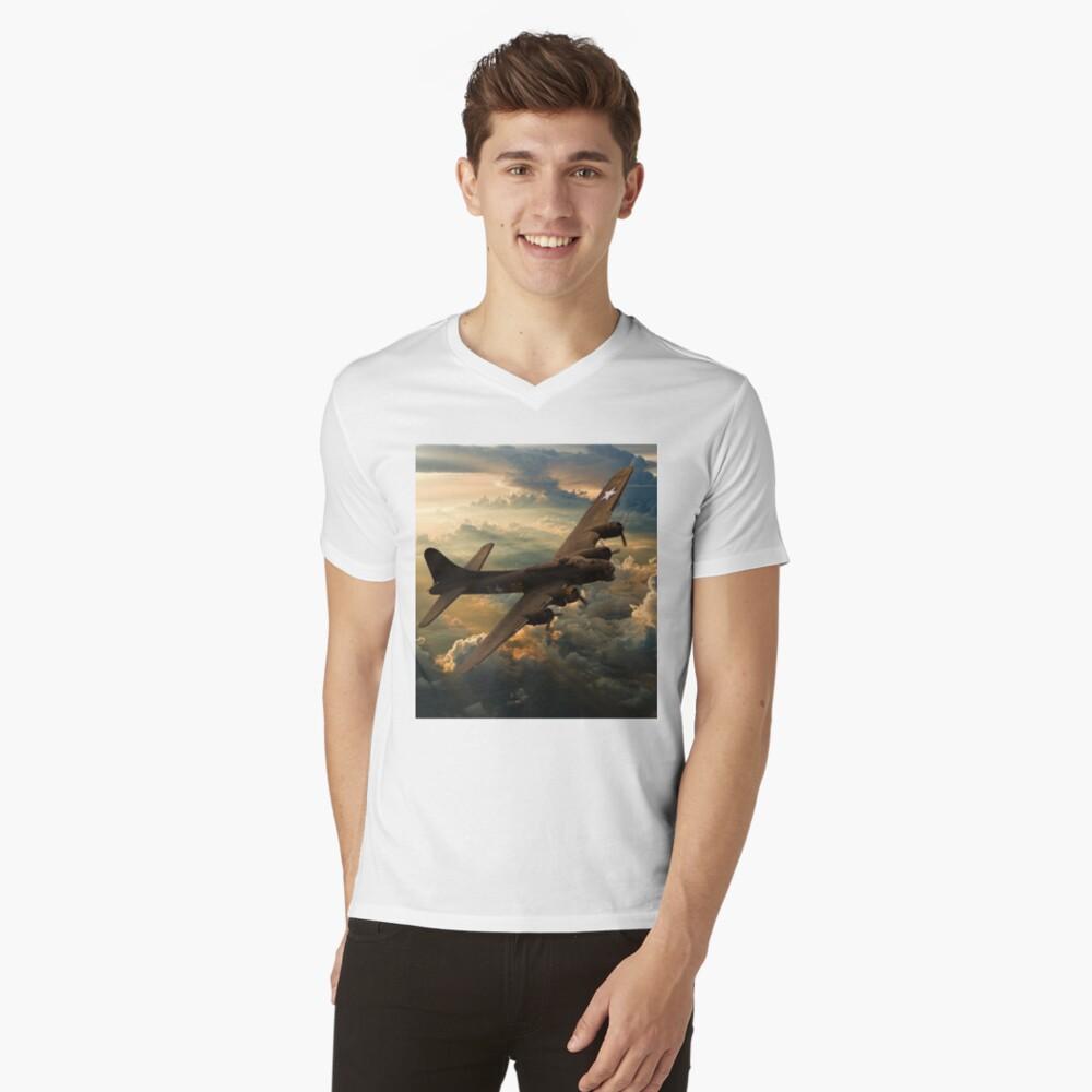 Sonnenuntergang Sally T-Shirt mit V-Ausschnitt