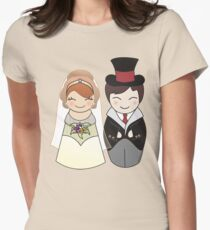 Kokeshis Just married Womens Fitted T-Shirt