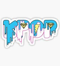 KPOP Drip Blue Sticker