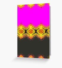 Lovely pink orange and yellow with black. Greeting Card