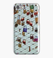 Locks on a gate iPhone Case/Skin