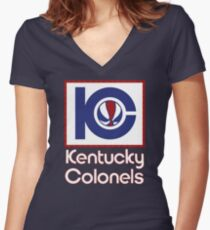DEFUNCT - KENTUCKY COLONELS Women's Fitted V-Neck T-Shirt