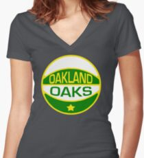 DEFUNCT - OAKLAND OAKS Women's Fitted V-Neck T-Shirt