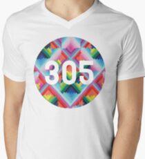 305 miami wynwood walls Men's V-Neck T-Shirt