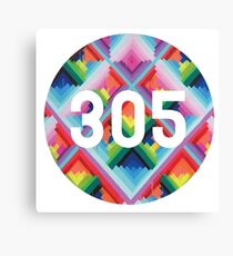 305 miami wynwood walls Canvas Print