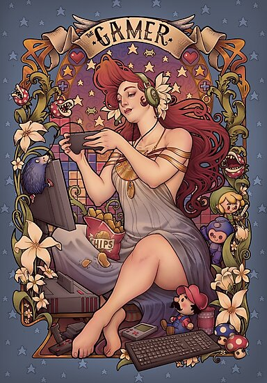 Gamer girl Nouveau by Medusa Dollmaker