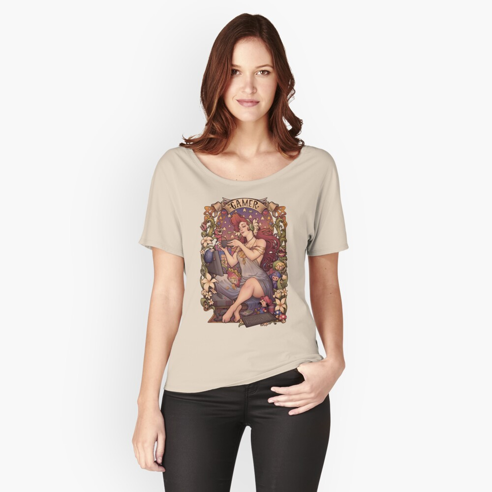 Gamer girl Nouveau Relaxed Fit T-Shirt