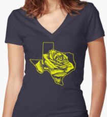 Yellow Rose of Texas Women's Fitted V-Neck T-Shirt