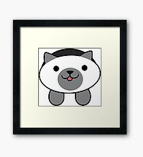 Marshmallow the Cat Framed Print