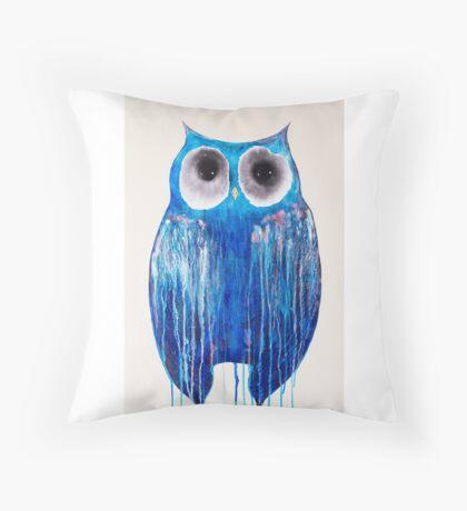 Medicine Wheel Owl Throw Pillow