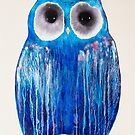 Medicine Wheel Owl by Julie  Sutherland