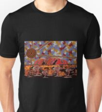Uluru | Ayers Rock - Authentic Aboriginal Arts Unisex T-Shirt