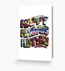 HAPPY MONDAYS PILLS 'N' THRILLS AND BELLYACHES Greeting Card