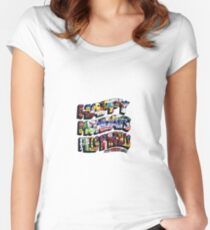 HAPPY MONDAYS PILLS 'N' THRILLS AND BELLYACHES Women's Fitted Scoop T-Shirt