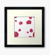 Hydrangea Pattern Sparse Framed Print