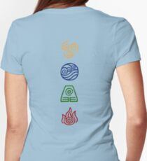 Bending Symbols Womens Fitted T-Shirt