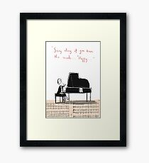 """""""Sing along if you know the words..."""" Framed Print"""