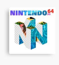 Vaporwave Nintendo 64 Canvas Print