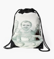 A fragrant cup - Currier & Ives - 1884 Drawstring Bag