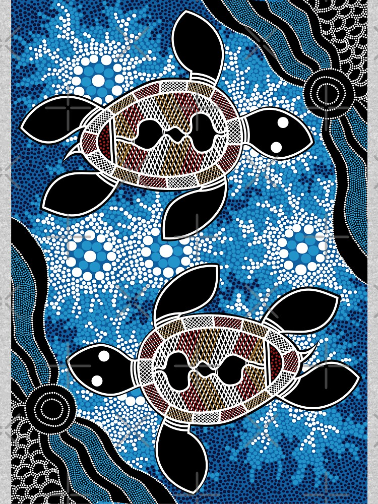 Aboriginal Art Authentic - Sea Turtles by HogarthArts