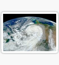 Satellite view of Hurricane Sandy along the East Coast of the United States. Sticker