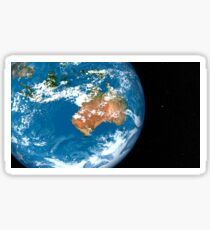 Planet Earth showing clouds over Australia. Sticker