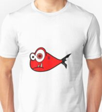 Red big eyed cartoon fish T-Shirt