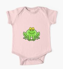 Green Cartoon frog Kids Clothes