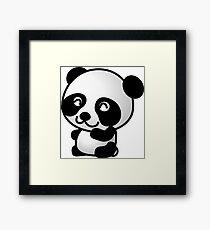 Cartoon Panda Framed Print