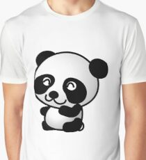 Cartoon Panda Graphic T-Shirt