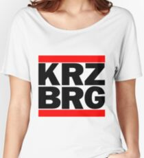 Berlin Kreuzberg KRZBRG logo white Women's Relaxed Fit T-Shirt