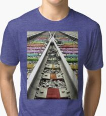 Rainbow Train Track  Tri-blend T-Shirt