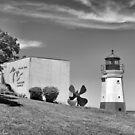 Vermilion Lighthouse by Monnie Ryan