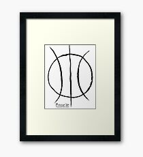Basketball Symbol Framed Print