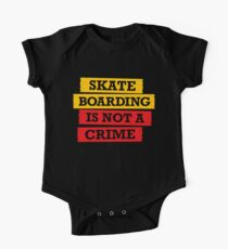 Skateboarding is not a crime One Piece - Short Sleeve
