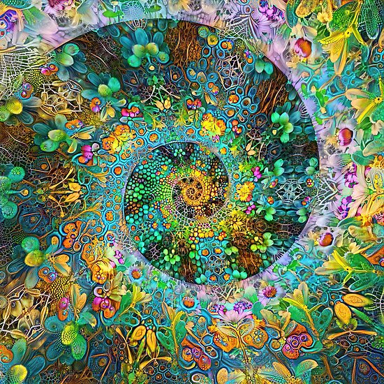 Floral Deepdream abstraction